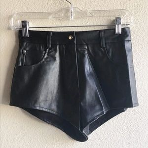 Nasty Gal Womens Size XS Pleather Booty Shorts